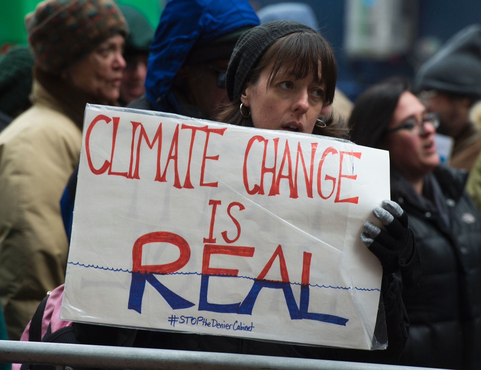Protesters urge Donald Trump to take climate change seriously