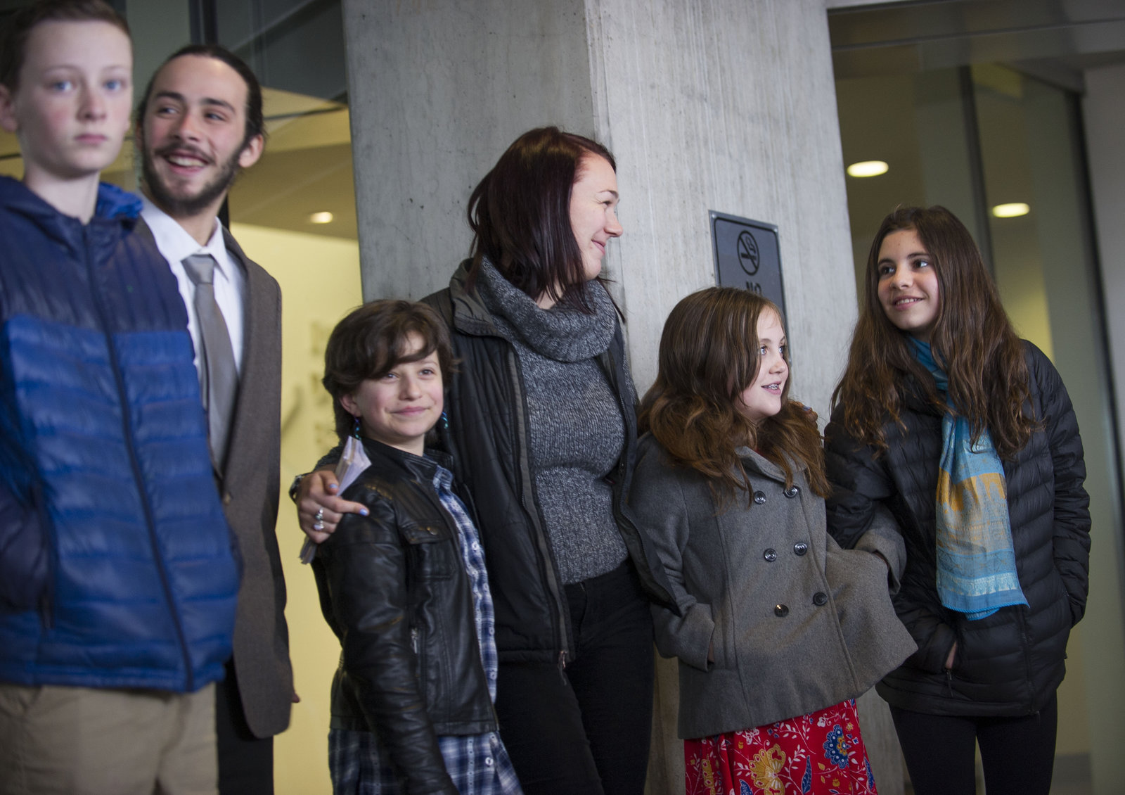 The young plaintiffs in a climate case against the United States