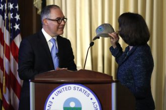 Scott Pruitt addressed EPA employees at headquarters on Tuesday