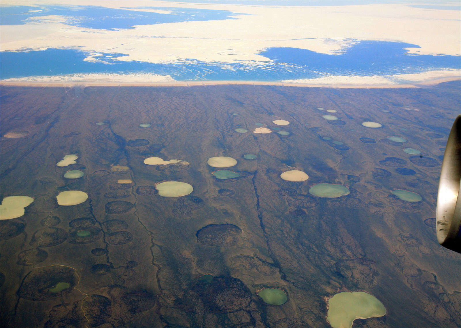 Melting permafrost is altering the landscape in northern Canada
