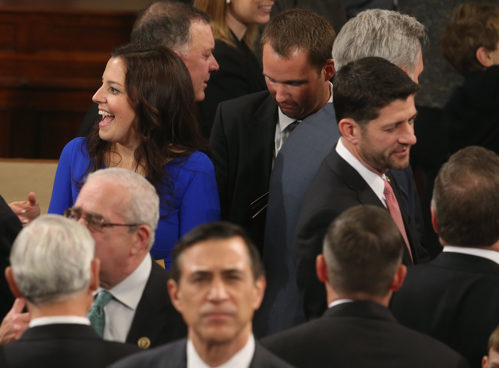 A group of 17 Republicans in the House, led by Rep. Elise Stefanik from New York, left, passed a resolution to address climate issues.