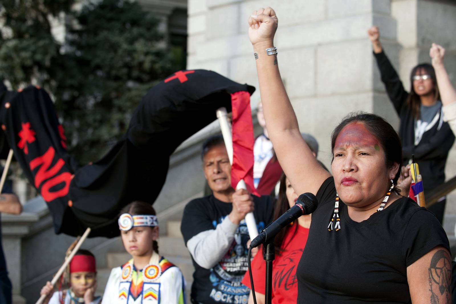 Native Americans have led the latest protest against Keystone XL