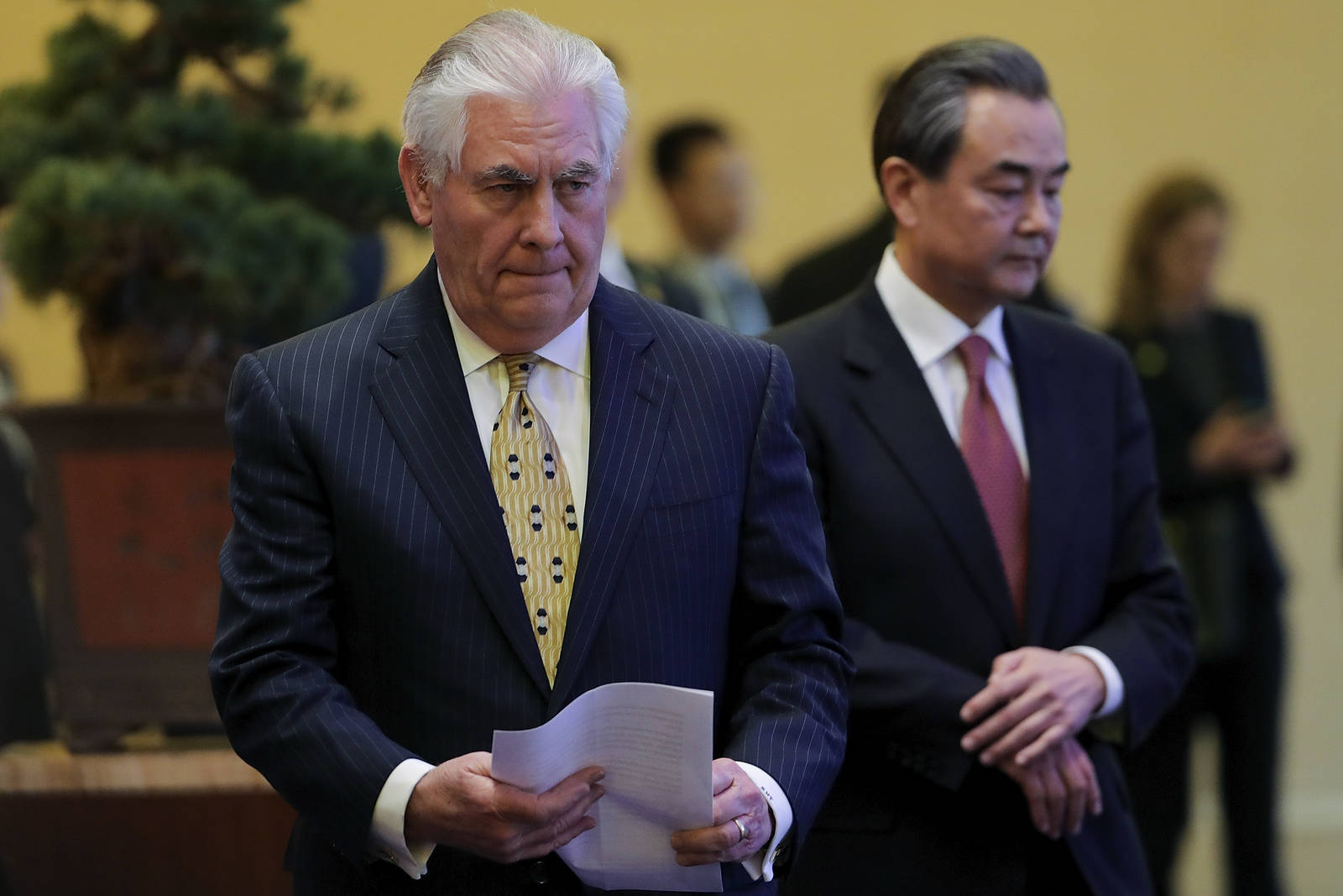 Rex Tillerson, visiting China this weekend, refused to discuss his  Exxon email alias