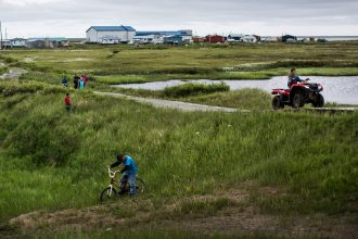 Newtok, Alaska is relocating because of rising seas and melting permafrost