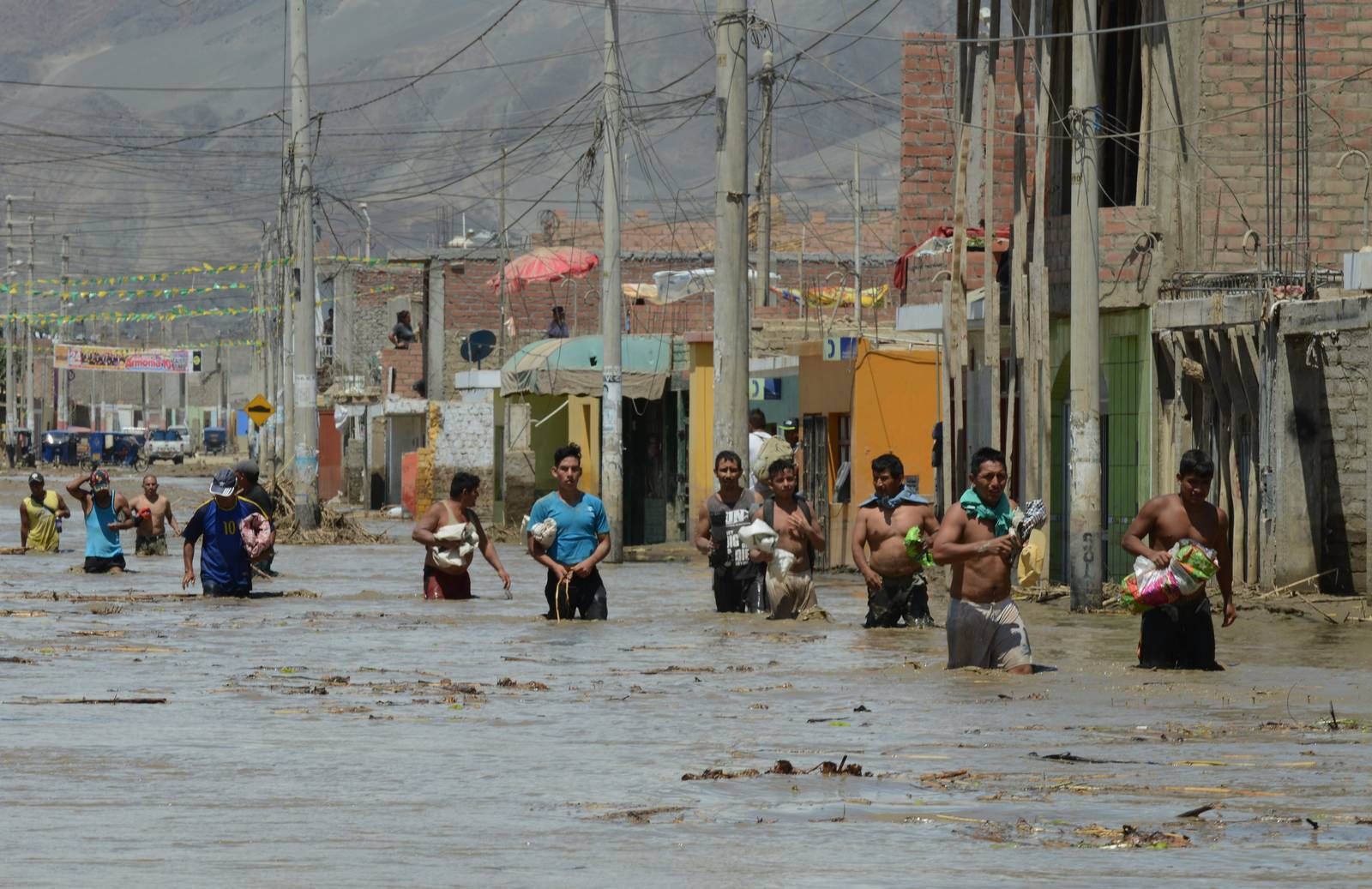 Peru's flooding has left tens of thousands of people homeless