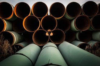 Unused pipe for the Keystone XL pipeline