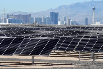 Solar energy installation in Nevada