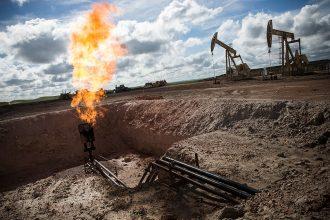 Gas flaring in North Dakota