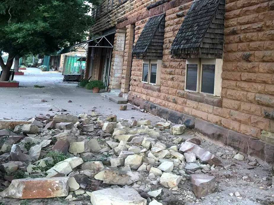 Pawnee earthquake damage