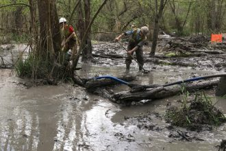 Drilling mud spilled during pipeline construction fouled wetlands in Ohio