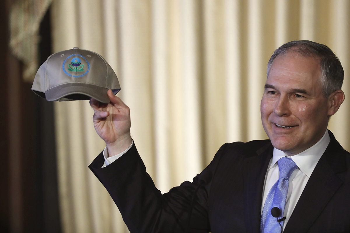 EPA Administrator Scott Pruitt frequently sued the agency he now heads
