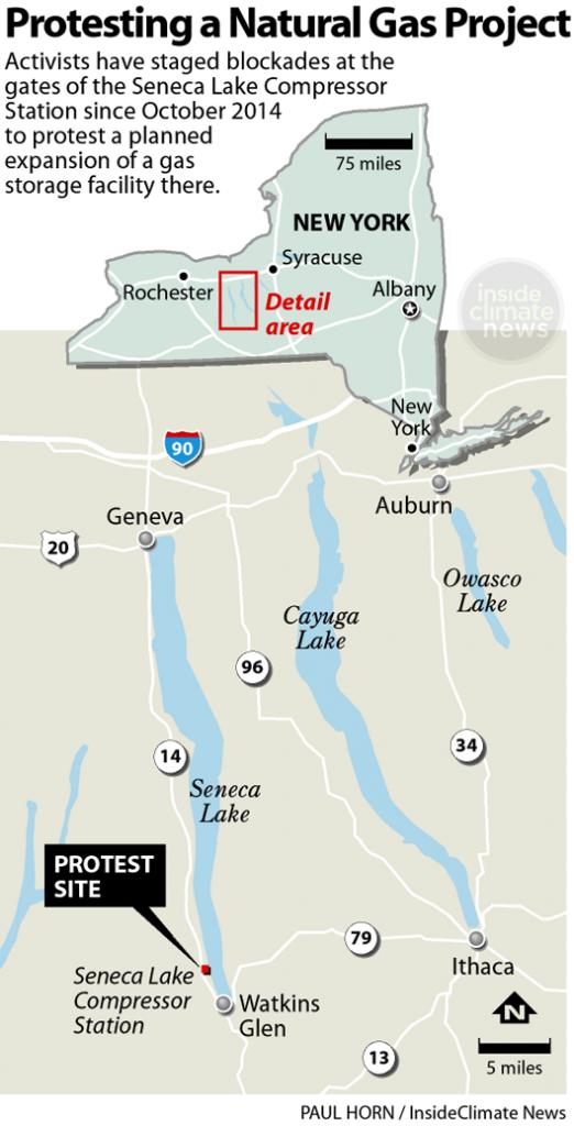 Seneca Lake gas storage facility protest site