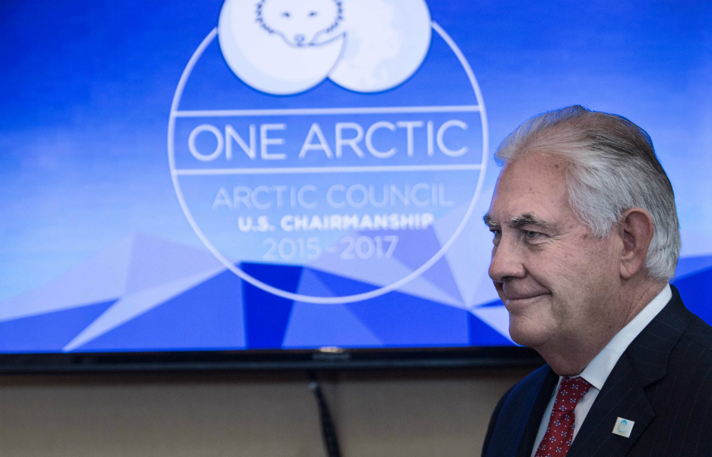 Rex Tillerson arrives at the Arctic Council ministerial