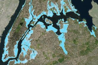 New York City's expanding flood plain