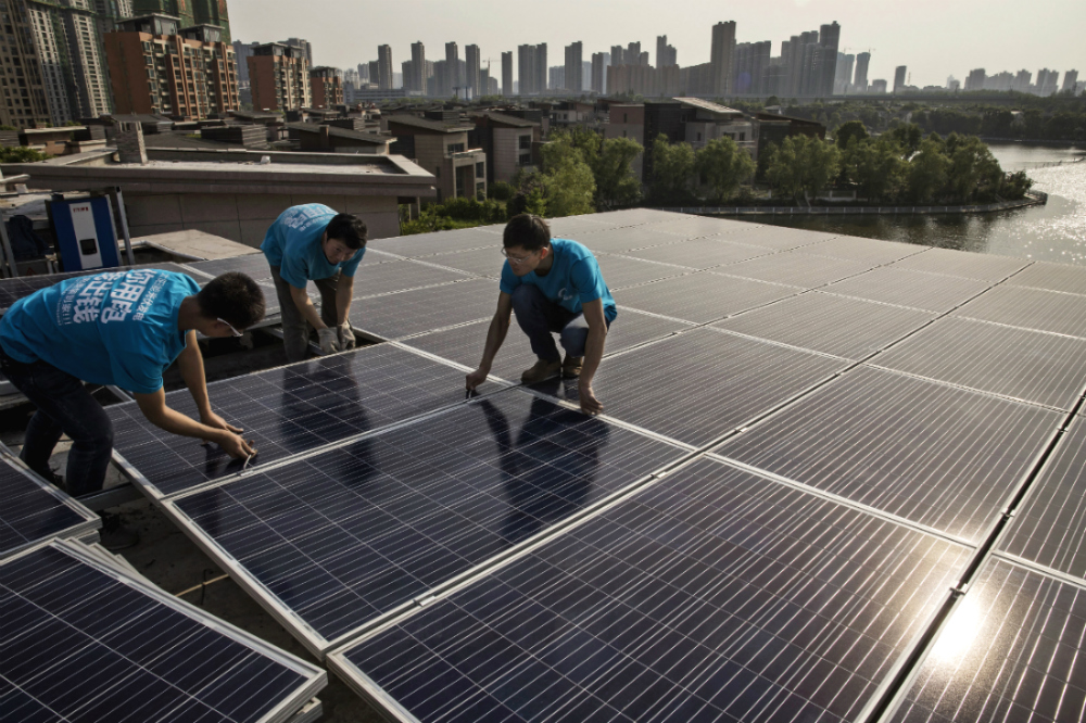 China leads the world in renewable energy jobs.