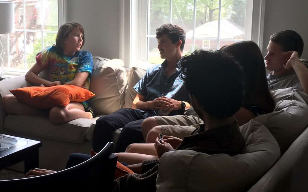 Jayden Foytlin meets with other plaintiffs from the Our Children's Trust lawsuit