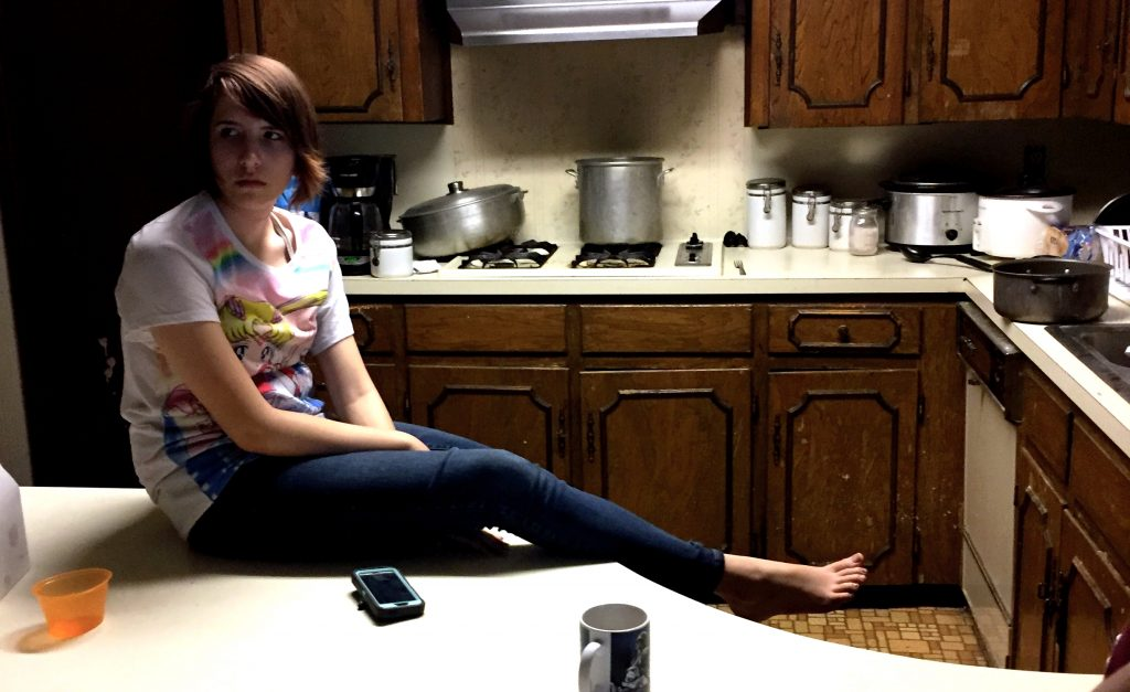 Jayden Foytlin at her home in Rayne, Louisiana.
