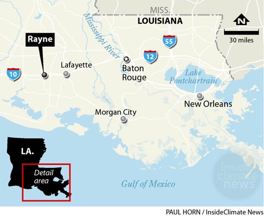 Map: Rayne, Louisiana