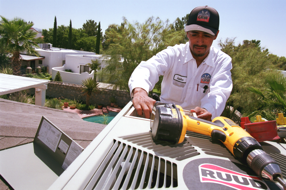 Air conditioner repair during a southern heat wave.