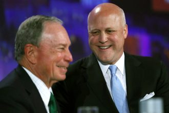 New Orleans Mayor Mitch Landrieu and Michael Bloomberg address the U.S. Conference of Mayors