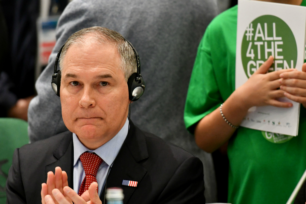 EPA Administrator Scott Pruitt left after 2 hours at the G7 environment summit.