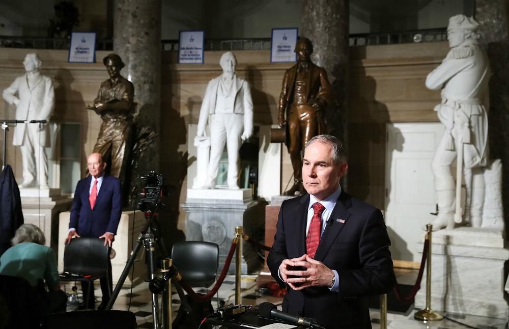 Scott Pruitt testified on Capitol Hill about the EPA budget
