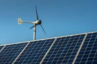 Wind and solar power are growing