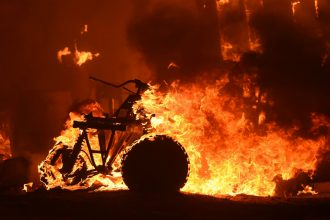 Extreme heat added to the dry conditions as wildfires broke out across California and the West.