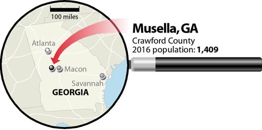 Musella, Georgia, map