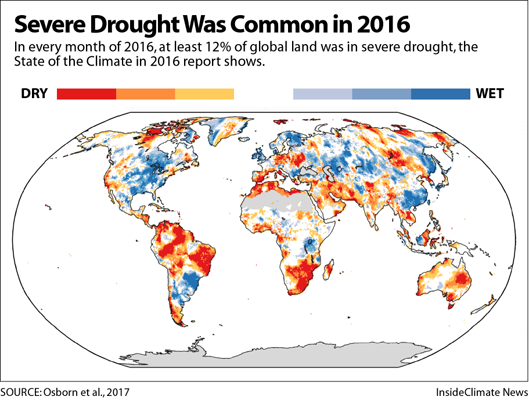 Palmer Drought Severity Index, 2016