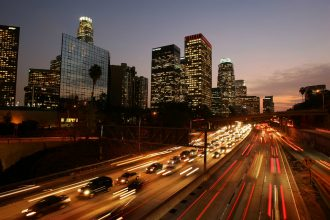 California freeway. Credit: David McNew/Getty Images
