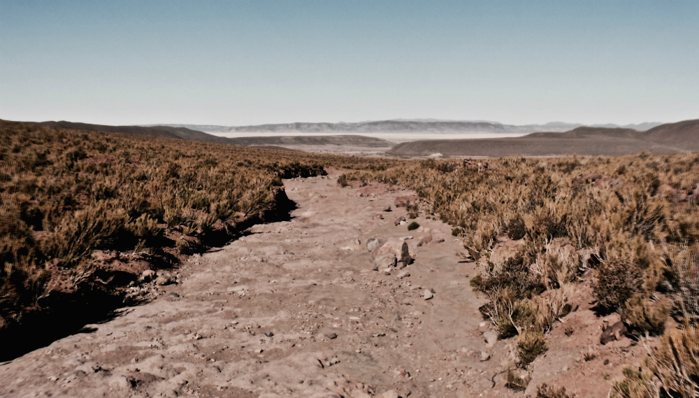 The river that once flowed through Santiago K dried up. Credit: Ben Walker