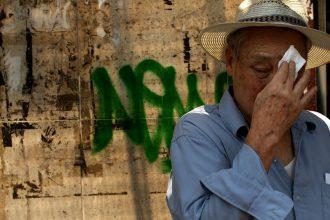 Suffering through a heat wave. Credit: Spencer Platt/Getty Images