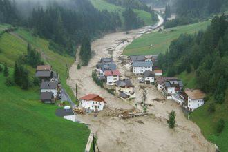 Flooding in Tirol, Austria. Credit: ASI/Land Tirol/BH Landeck