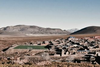 The village of Santiago K, Bolivia. Credit: Ben Walker