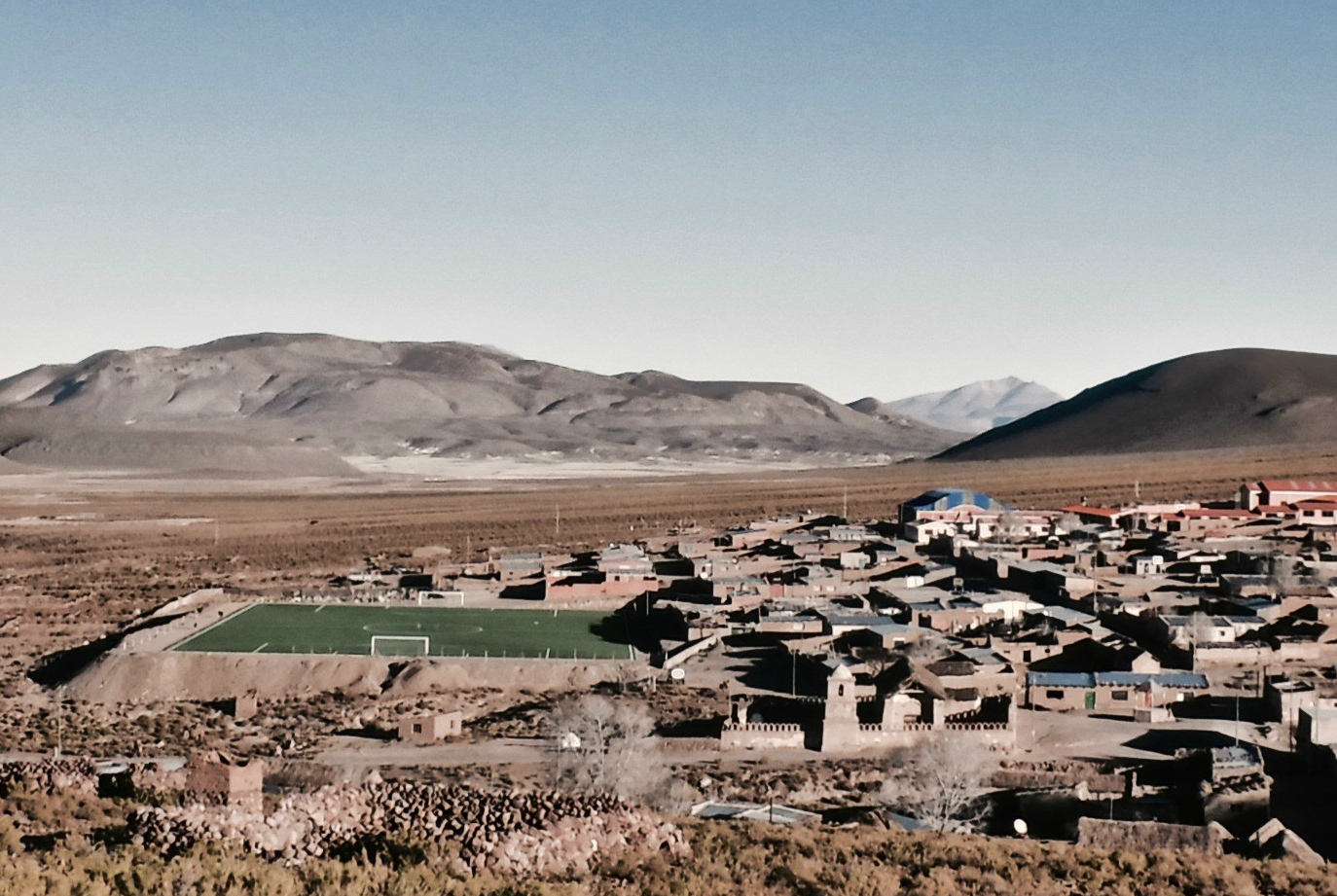 The village of Santiago K, Bolivia. Credit: Ben Walker