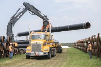 Enbridge Line 3 construction in Canada. Credit: Marc Chalifoux/Epic Photography for the Government of Alberta