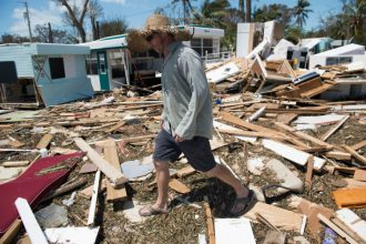 Damage from Hurricane Irma in the Florida Keys. Credit: Saul Loeb/Getty Images