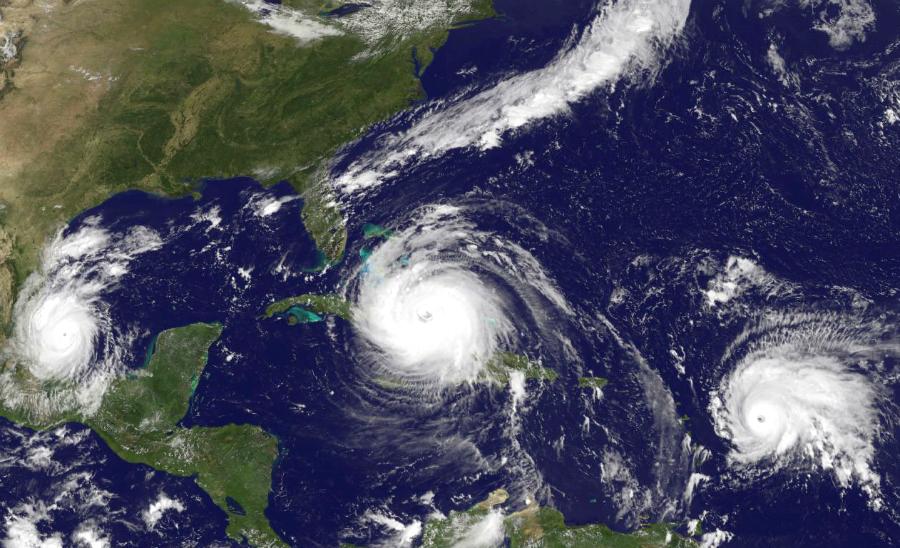 Hurricane Irma barrels toward Florida on Sept. 9, 2017. Credit: NASA/NOAA GOES Project
