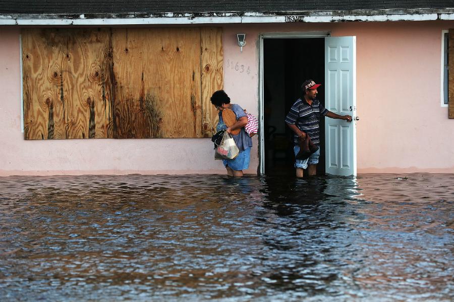 Irma's storm surge flooded homes in Fort Myers and along the Florida coast. Credit: Spencer Platt/Getty Images
