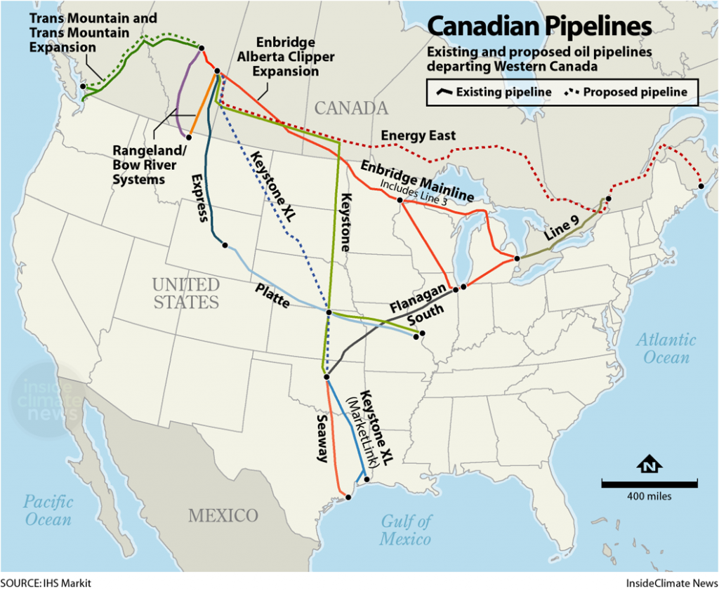 Canada's Major Pipelines: Existing and Planned