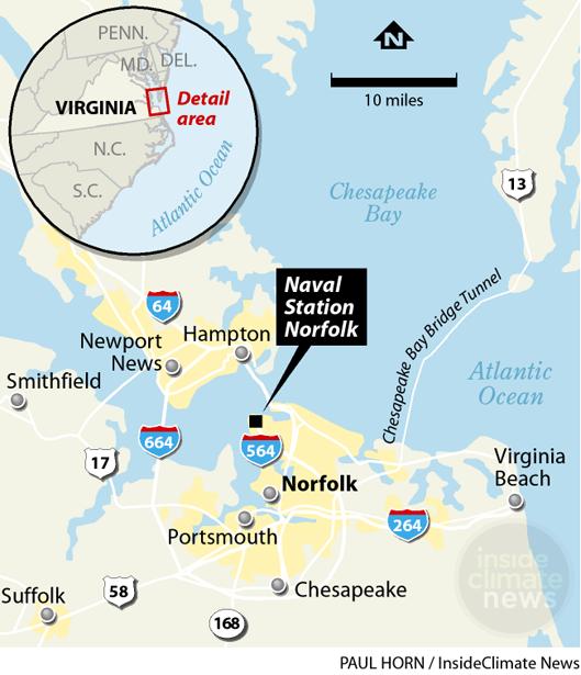 Norfolk location map