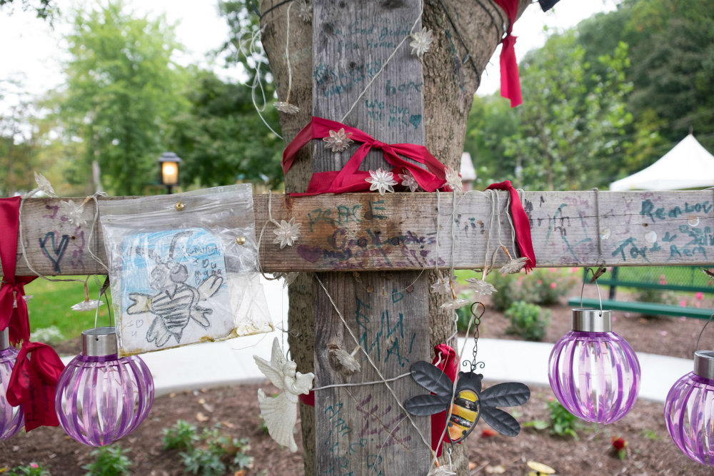 Belinda Scott memorial in White Sulphur Spings, West Virginia
