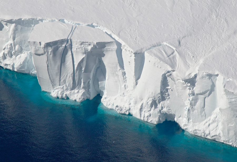 Getz ice shelf, Antarctica. Credit: Jeremy Harbeck/NASA