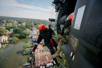 Search and rescue operations by the Air National Guard after Hurricane Harvey. Credit: Staff Sgt. Daniel J. Martinez/U.S. Air National Guard