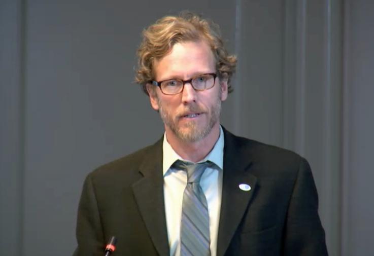 Joel Clement speaks at Department of Interior event. Credit: U.S. Department of Interior