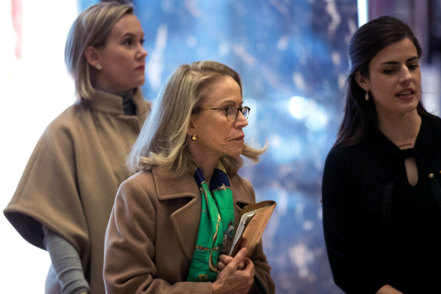 Kathleen Hartnett White arrived at Trump Tower last November while then-President-Elect Donald Trump and his transition team considered positions in the administration. Credit: Drew Angerer/Getty Images