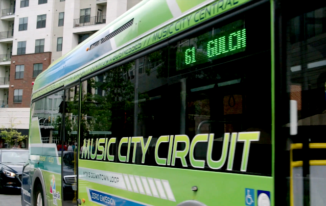 Electric bus in Nashville. Credit: Proterra
