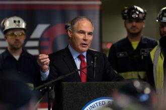 Scott Pruitt in coal country. Credit: Justin Merriman/Getty Images