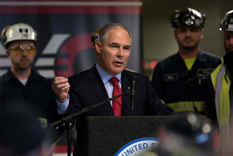 Scott Pruitt in coal country. Credit: Justin Merriman/Getty Images